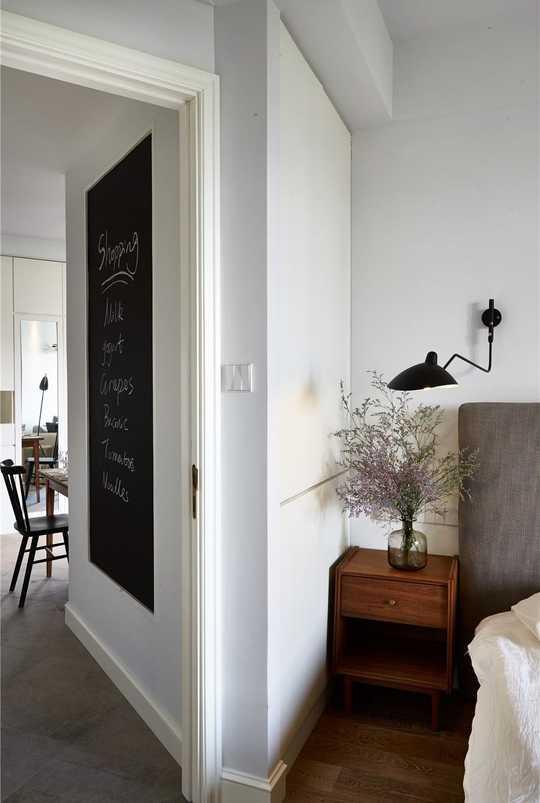 手绘北欧黑板墙