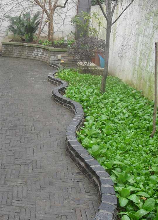 花坛,菜地,高低不同
