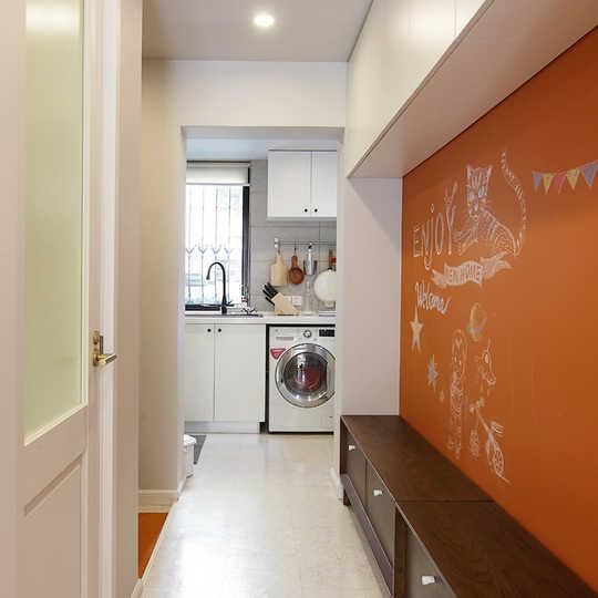 餐厅冰箱洗衣机效果图