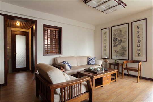 ——客厅观景将休闲阳台的一部分用来布画,老藤新枝,太湖