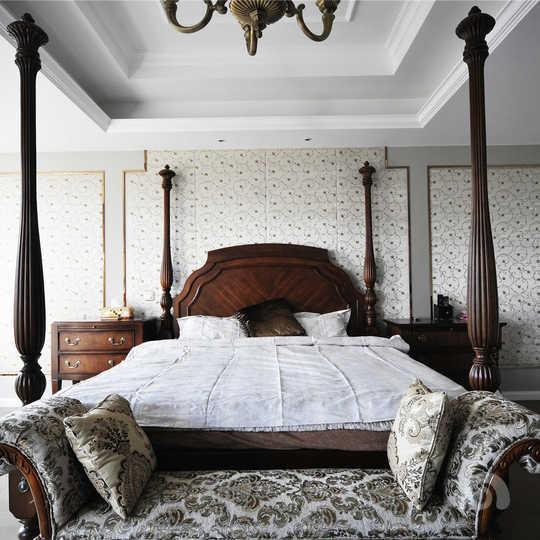 背景墙 床 房间 家居 家具