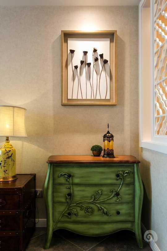 欧式绿色刺绣卧室窗帘效果图