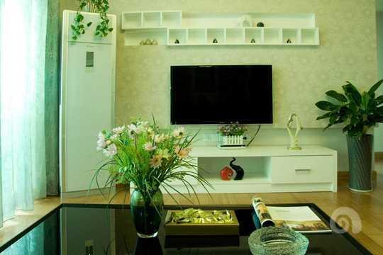 欧式微晶石电视墙两边缕花