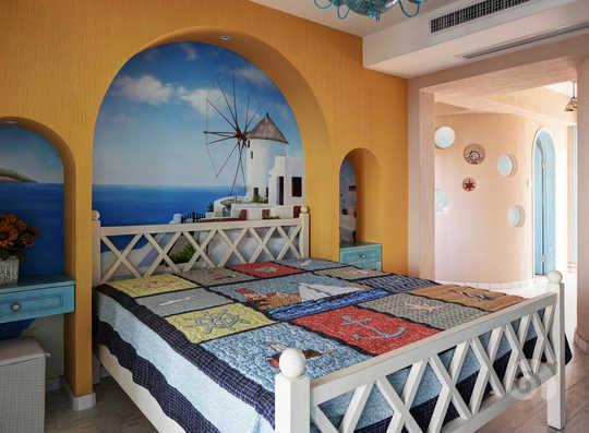 美丽海岛墙绘设计图
