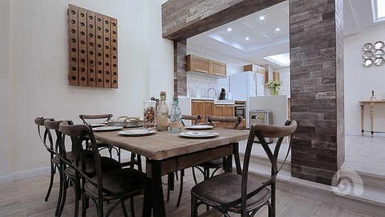 开放式厨房,西厨,吧台~是现代别墅的设计的标配,但北欧